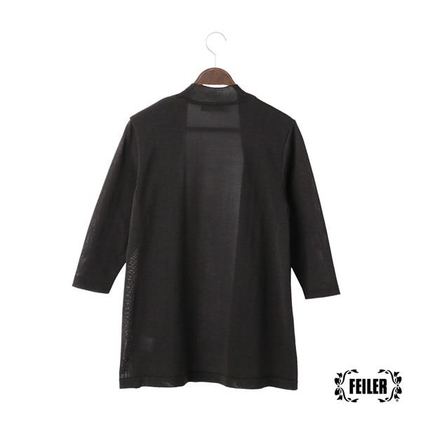 ソリッド 七分袖カーディガン JEKS-171009