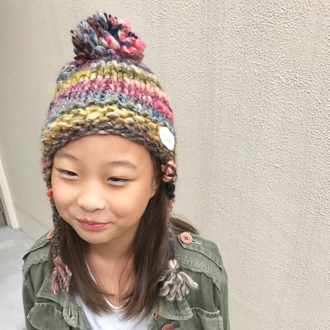 It Mamaコラボ ニット帽子 キッズサイズ L/JEWID-173151