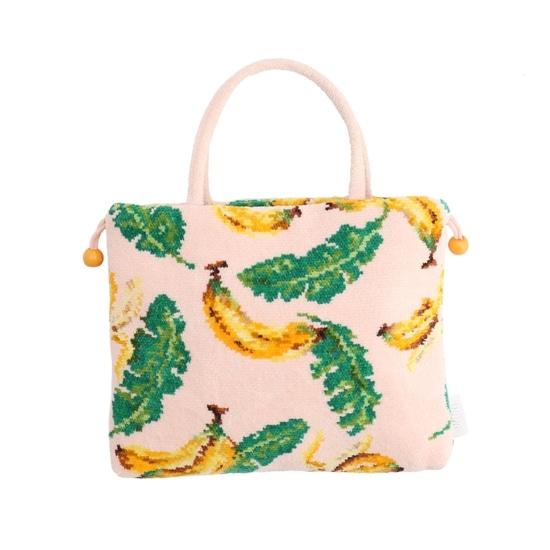 ジャングルバナナ 手付き巾着バッグ JBA-181091