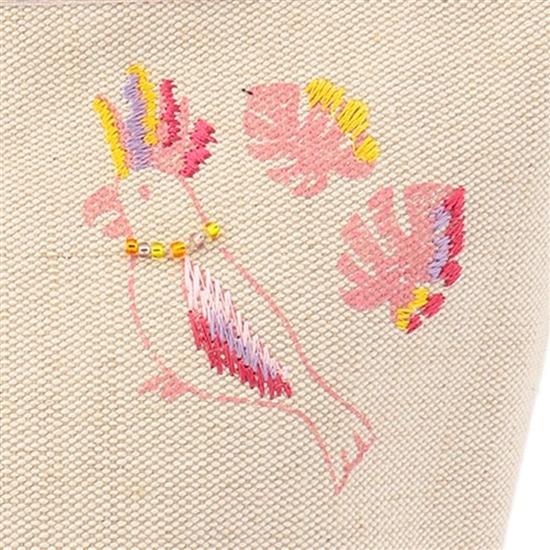 ラブラリージャングル プリント刺繍バッグ L/LOJU-183031