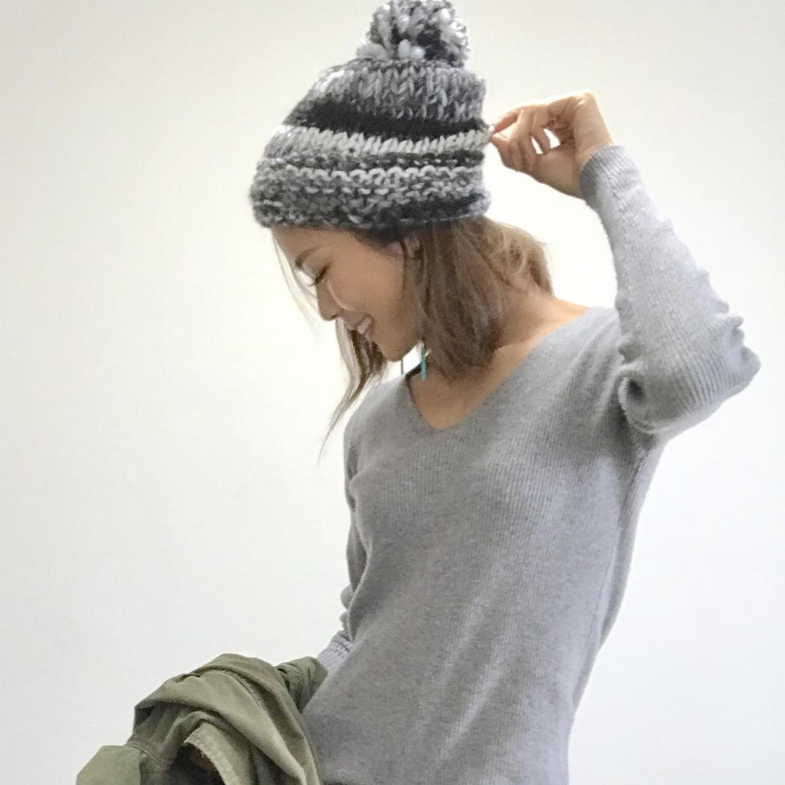 It Mamaコラボ ニット帽子 L/JEWID-173152