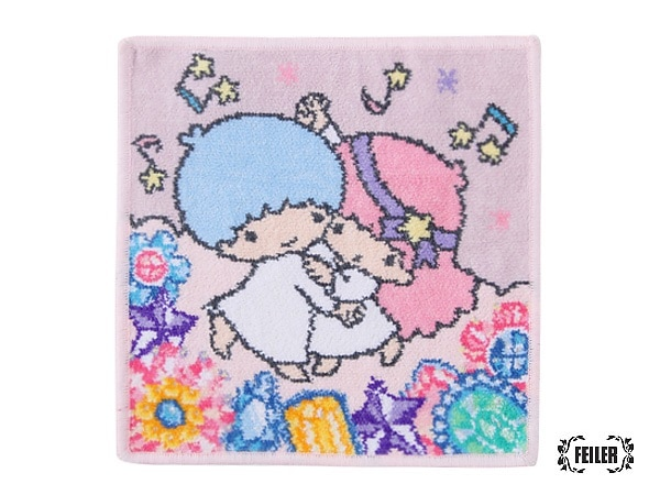 LittleTwinStarsコラボ リトルツインスターズ・ジェム ハンカチ(取扱店舗限定)