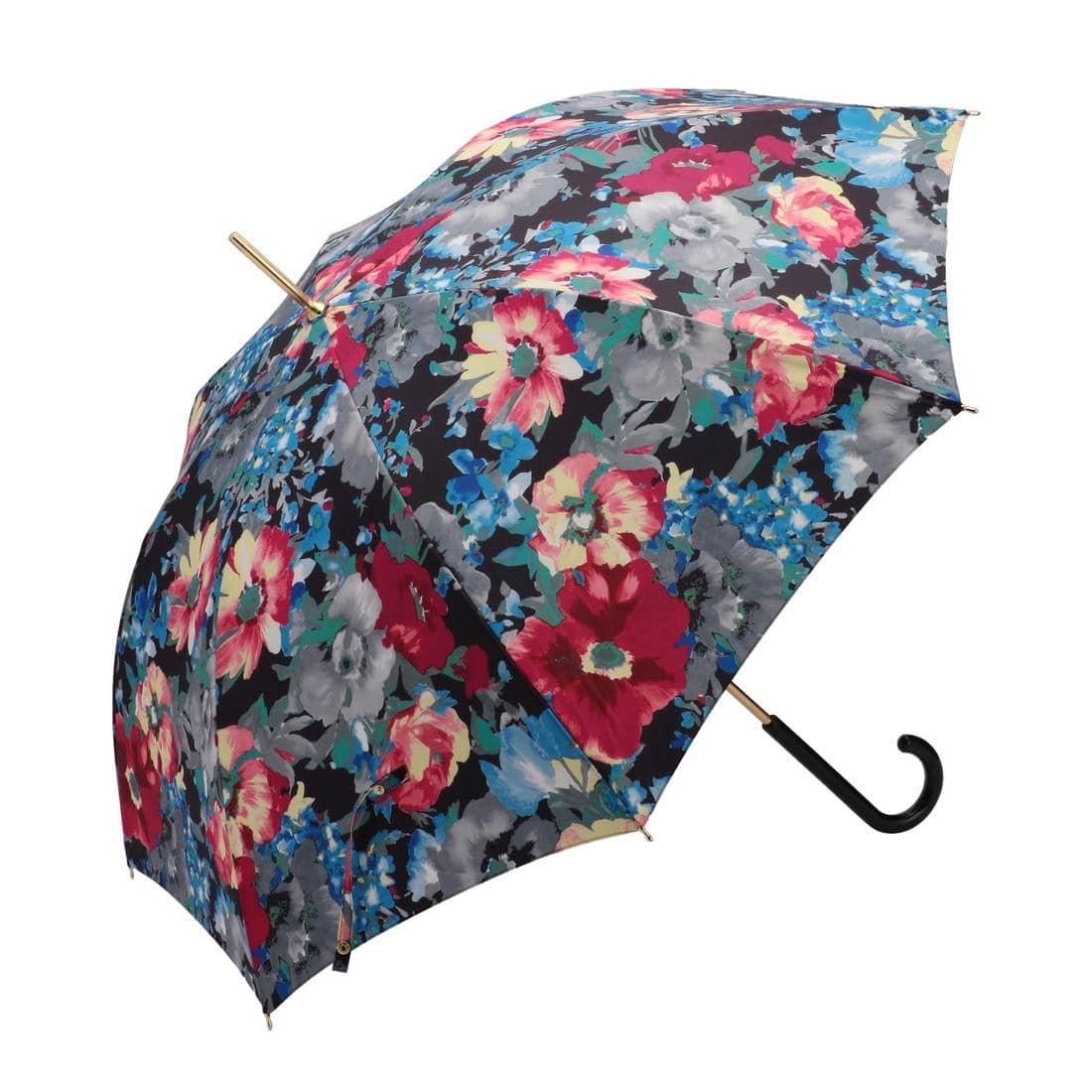 ウォーターカラーフラワー 雨晴兼用長傘 JEWCF-171139
