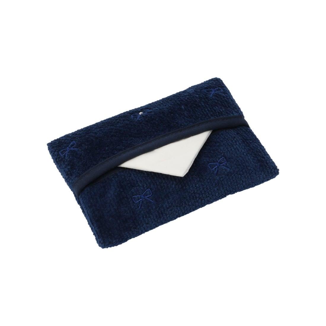 ラブラリープリティカラー リボン刺繍ティッシュポーチ L/LPC-163130